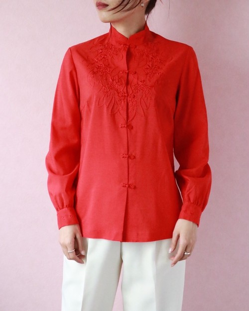 red china blouse