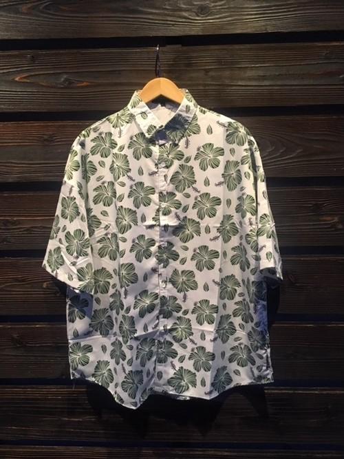 Eazy Miss  Hawaiian Lapel Shirt  Green  Lサイズ