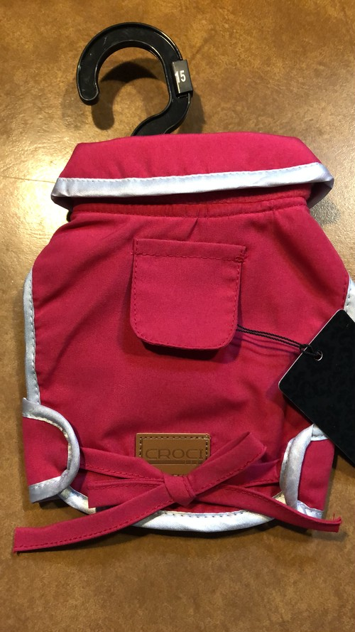 着丈:45cm防水ジャケット セストリエール レッド 【CROCI】クローチェ コレクション