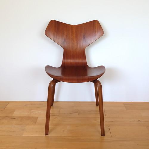 Fritz Hansen(フリッツ・ハンセン) グランプリチェア  4130 Arne Jacobsen(アルネ・ヤコブセン) チーク ビンテージ 初期 1