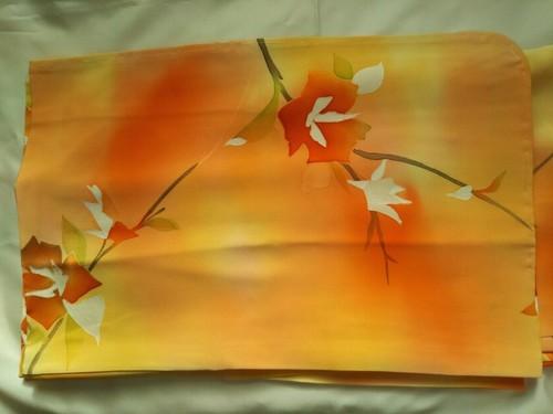 羽織 薄いオレンジ色