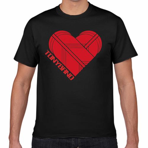 TONYBAND Tシャツ(黒) LOGO赤2(大)