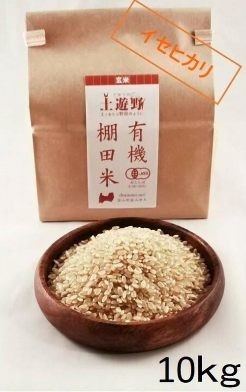 《令和元年産》有機棚田米イセヒカリ 玄米 10㎏