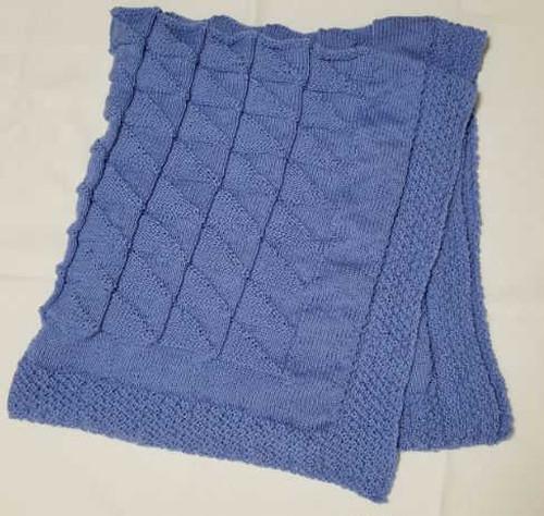 ヒヤシンス ブルー ふんわり ブランケット  -hyacinth Blue Blanket-