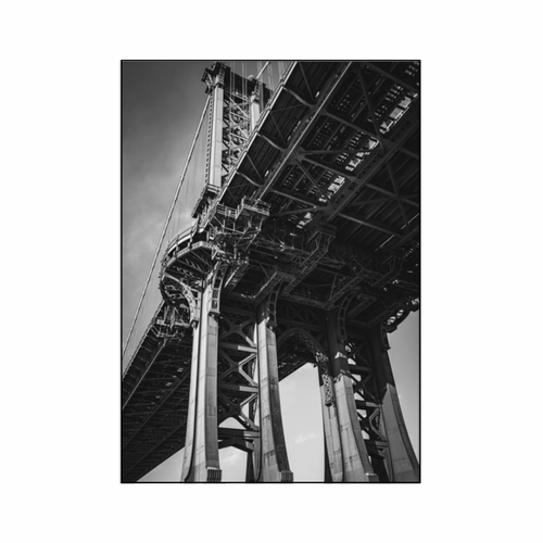 A3 Manhattan Bridge Fabric Panel
