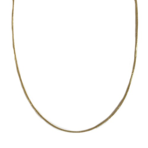 【14K-3-9】16inch 14K real gold chain necklace