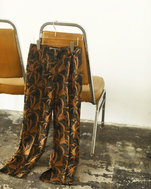 Jacquard Slit Trousers