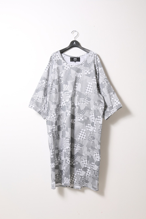 PATCHWORK PRINT DRESS / ANREALAGE