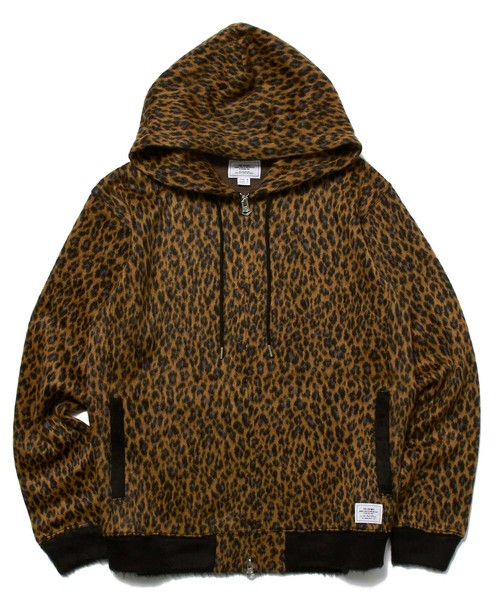CRIMIE / CR1-02L5-KN05 / LEOPARDO SHAGGY KNIT ZIP PARKA