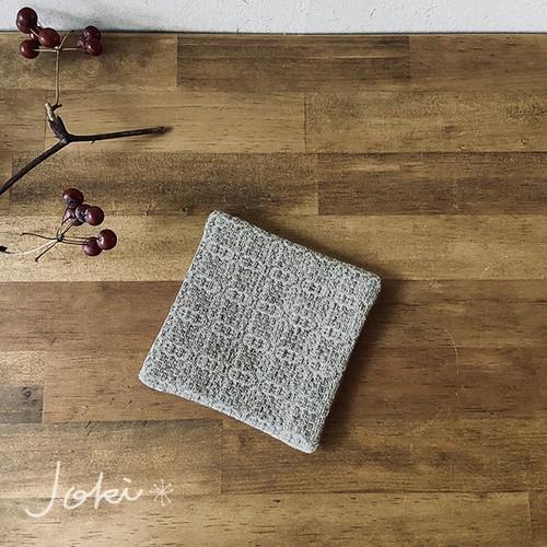 Coaster[綿入り手織りコースター] グレー