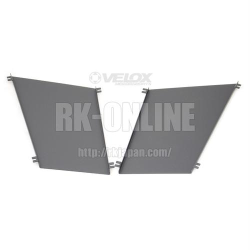 VERUS ENGINEERING(VELOX):A0081A:MAZDAロードスター ND5 フードルーバー用レインガード:左右セット:ブラックパウダーコート