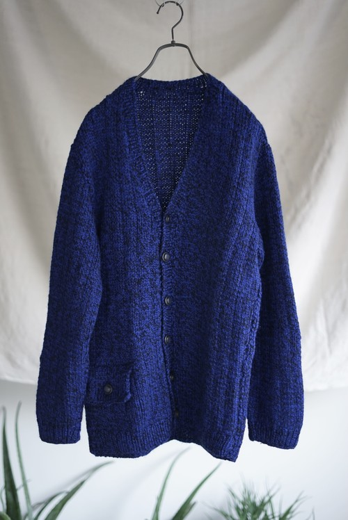 <SOLD OUT>Home Made Handknit Cardigan 1970's - Euro Vintage
