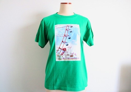 Way To Route66 Tシャツ グリーン