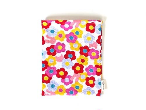 ハリネズミ用寝袋 M(夏用) 綿リップル×スムースニット カラフルフラワー