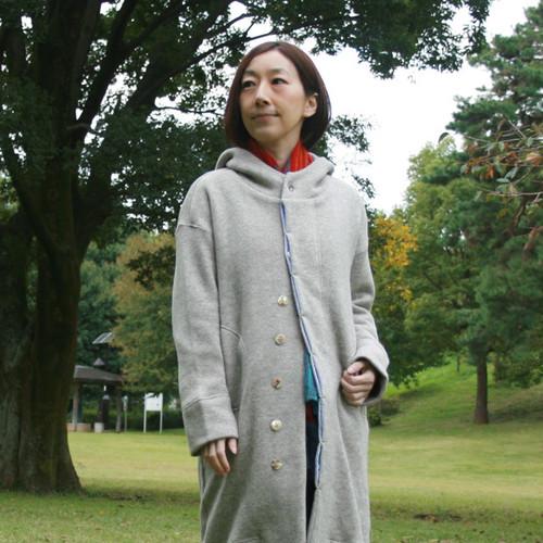 オーガニックコットン&ヤクウール トビ裏毛フードコート