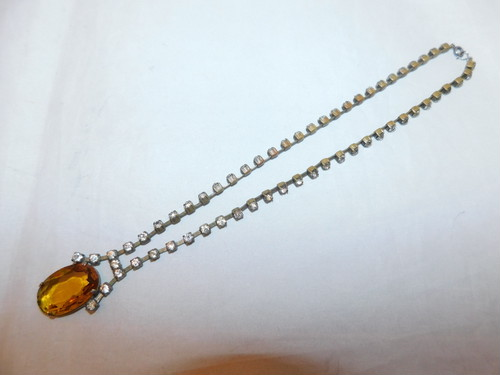 トパーズ色のネックレス(ビンテージ) vintage necklace