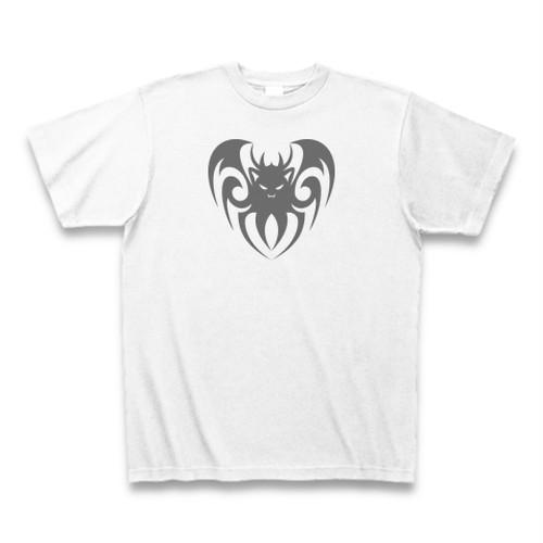 送料無料 ハート型のやさしいコウモリ(鳥)オリジナル メンズTシャツ
