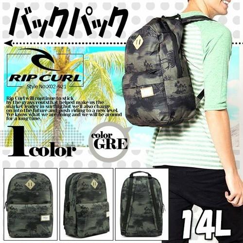 X02-921 リップカールリュック RIP CURL 人気ブランド おすすめ 旅行 通勤 通学 学生 メンズ おしゃれ プレゼント バックパック A4サイズ 大容量 14L マチあり