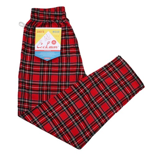 COOKMAN CHEF PANTS「TARTAN」/ RED