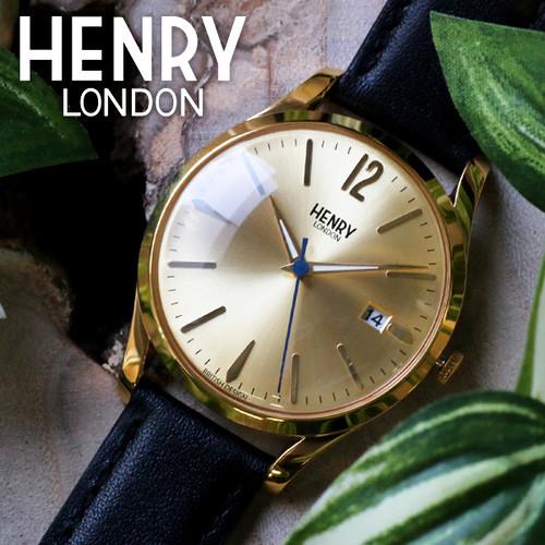 ヘンリーロンドン HENRY LONDON ウェストミンスター 39mm ユニセックス 腕時計 HL39-S-0006 ゴールド/ブラック ゴールド