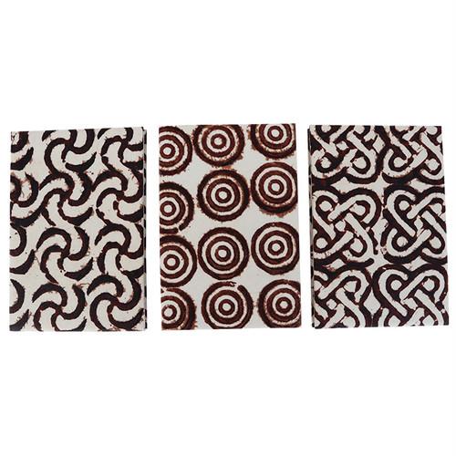 アシャンティ族のアディンクラの御朱印帳 7,8,9 / Asante Adinkra Paper Book for Shrine Seals 7,8,9