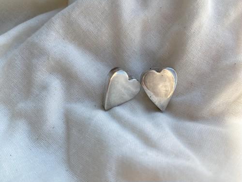 〈vintage silver925〉mexican heart pierce