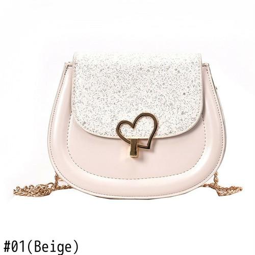 Messenger Bag Vintage Leather Chain Shoulder Bag Small Bag Crossbody Bag Sac ショルダーバッグ レザー クロスボディ チェーン メッセンジャーバッグ ビンテージ サドルバッグ シートバッグ (HF99-7094449)