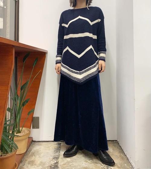 LAUREN wool mix design knit sweater 【S】