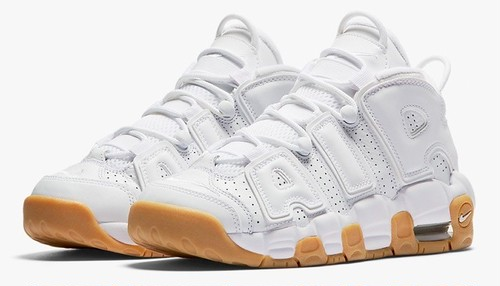 Nike Air More Uptempo GS ホワイトガムソール