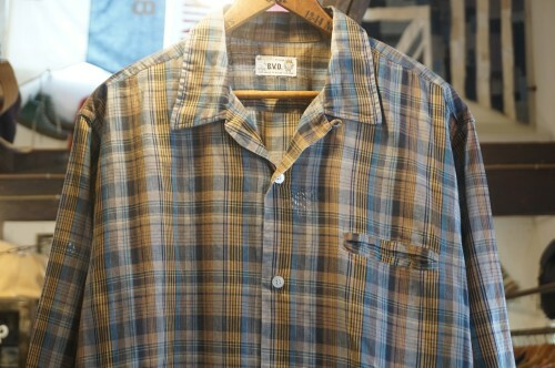 50's King Cotton ORIGINAL by B.V.D. plaid cotton Shirt
