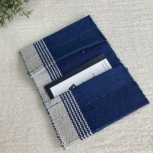 名刺入れ メンズ レディース おしゃれ 40代 父の日 手織り 藍染 草木染め 絹紙布  結工房 男性 女性 日本製