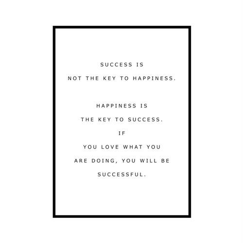 """SUCCESS IS..."" INSPIRATIONシリーズ [SD-000582] A4サイズ ポスター単品"