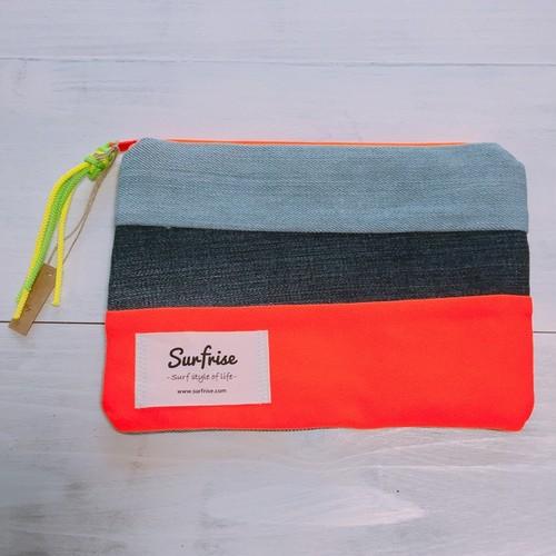 Denim pouch (Orange) S1