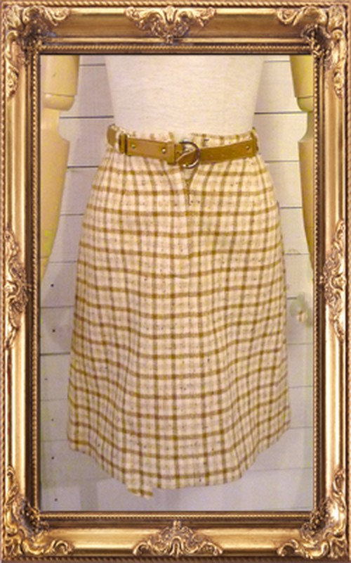 Bobbie Brooks vintageチェックタイトスカート【アメリカ古着】