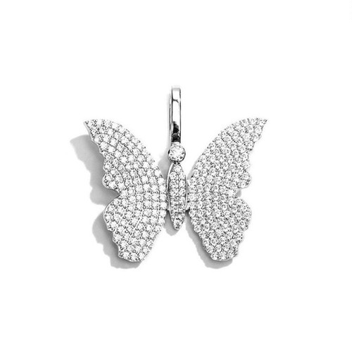 ICE MOB INC Butterfly Pendant Head SILVER