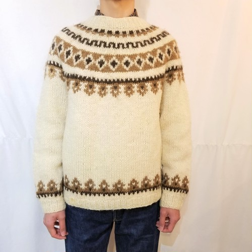 Lopi sweater / Made In Iceland [K-511]