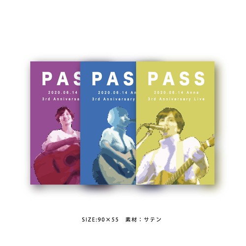 3rd Anniversary パスステッカー(3枚組)