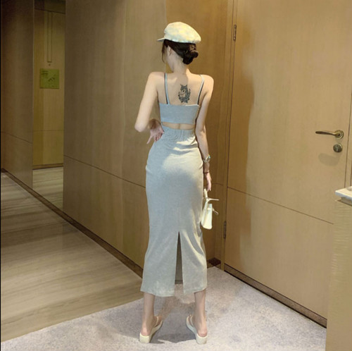 back design dress 2color