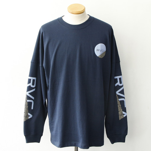 【RVCA】FRACTION LS TEE (NAVY)