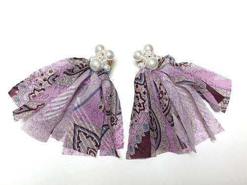 scarf earrings/pierce (2020 D)
