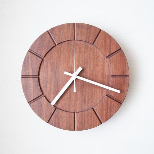 木の時計01(Φ240) No22 | ウォールナット