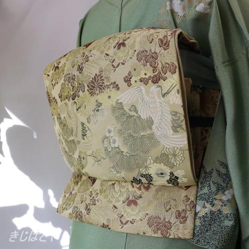 正絹 利休白茶の袋帯