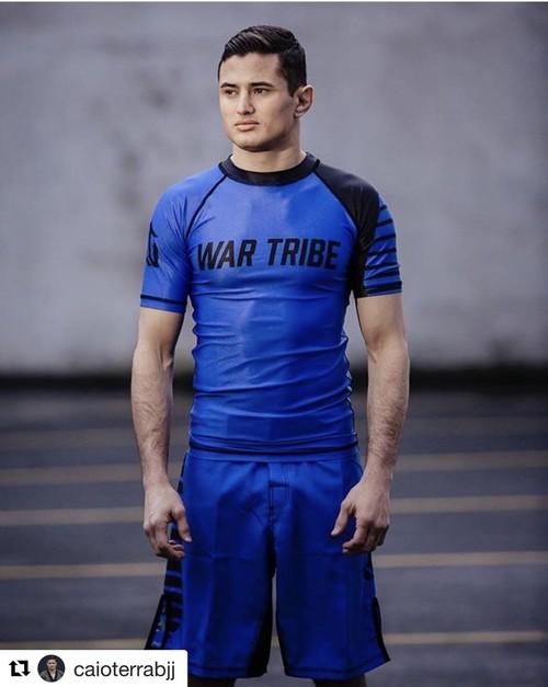 SALE!!!10%OFF WAR TRIBE GEAR  BALANCE ラッシュガード 半袖 ブルー