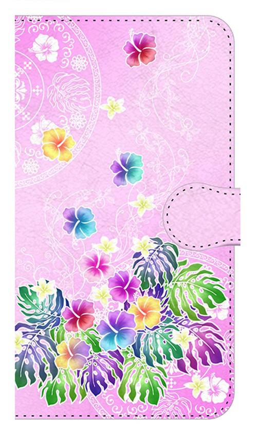 【鏡付き Mサイズ】Sweet Pink Paradise スィート・ピンク・パラダイス 手帳型スマホケース