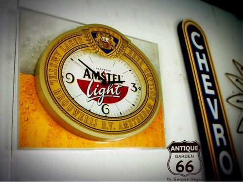 AMSTELロゴ入りヴィンテージ ウォールクロック★電池式掛時計【A-091】