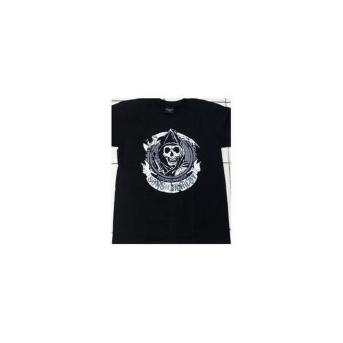 サン・オブ・アナーキー Sons of Anarchy タイトルロゴ プリント Tシャツ