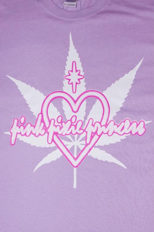 """●PPP● """"♡ Marijuana"""" ネオンサインプリントTee / ラベンダー"""