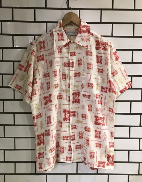 Vintage Miller 総柄 S/S Shirts M MADE IN USA