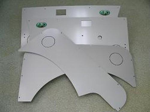 ジムニーアルミ製ドア内張りフロント/リヤ左右セット・シルバー