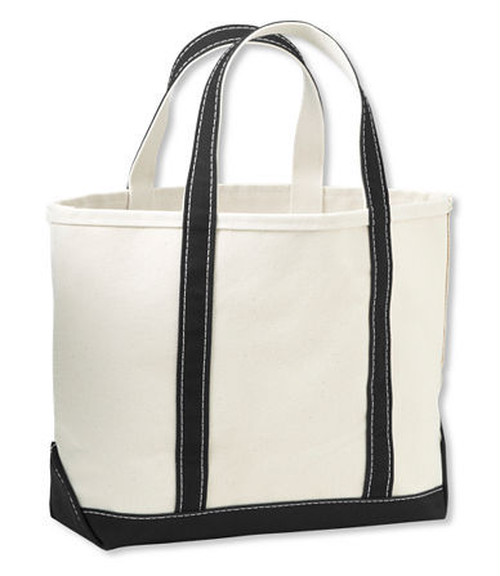 Boat & Tote Bag - Open Top -small / black